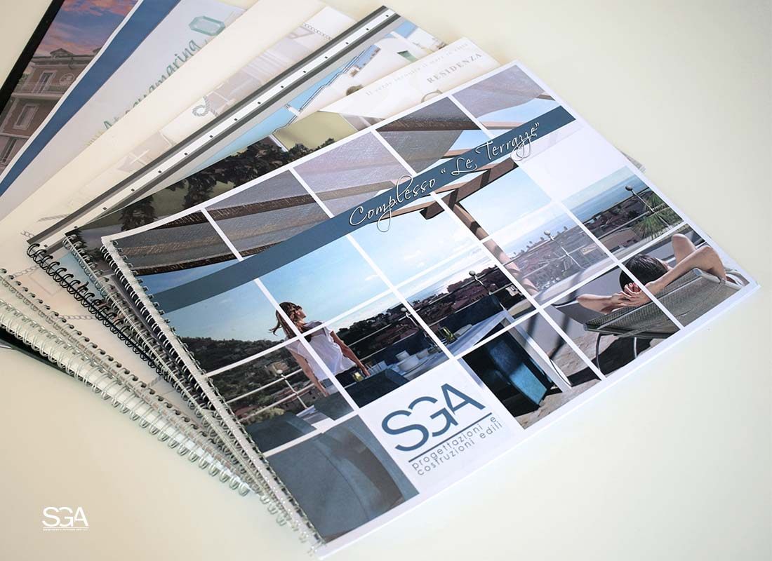 Brochure e depliant servizi SGA Srl