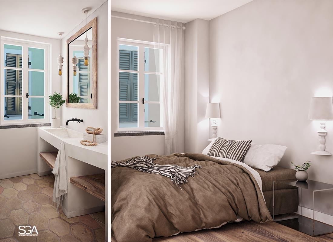Camera da letto con bagno Complesso le Terrazze SGA Srl