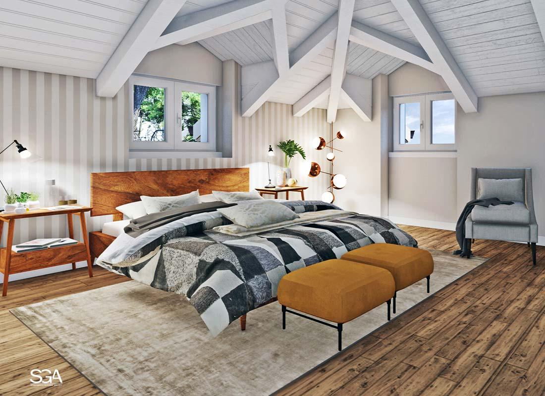 Camera da letto Villa dei Marmi SGA Srl
