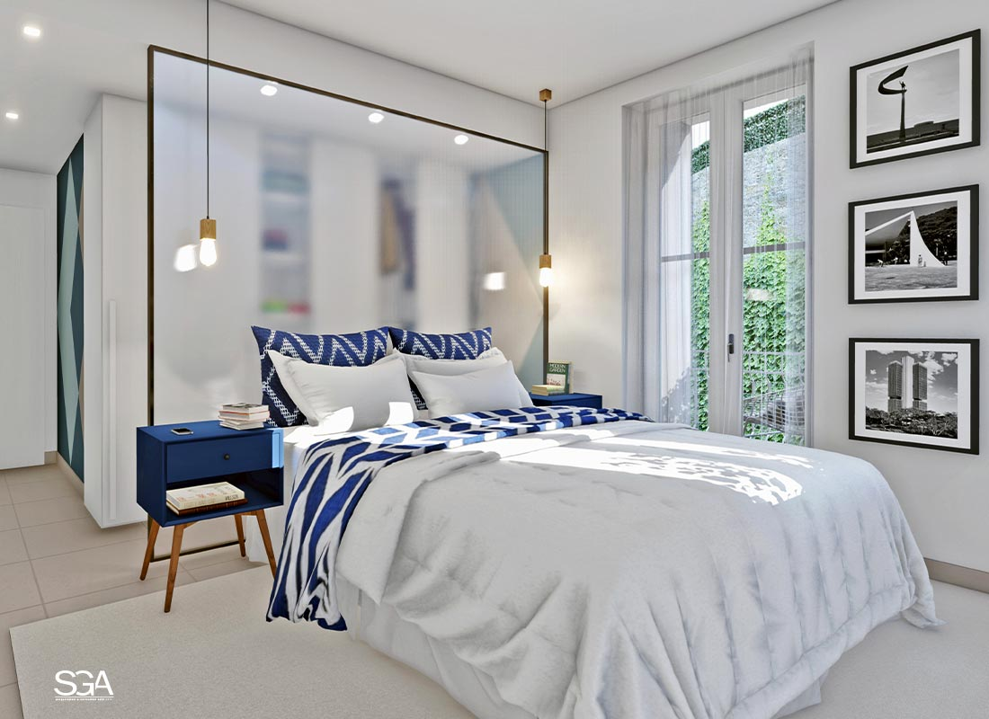 Camera moderna Villa dei Marmi SGA Srl