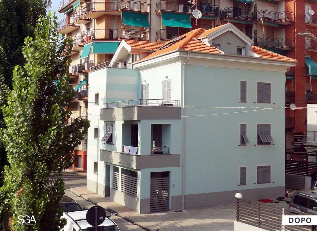 Risanamento immobile sul mare Villa Acquamarina SGA Srl